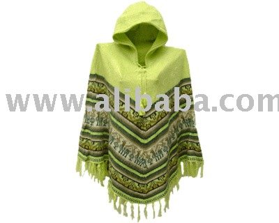 Women's Casual Poncho with Hood