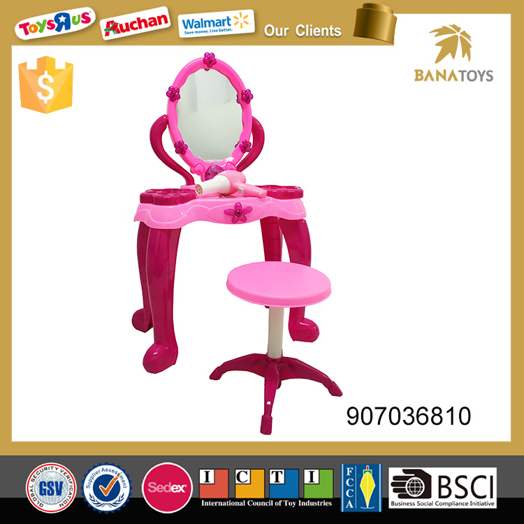 Wholesale kids toy plastic dressing table with mirror