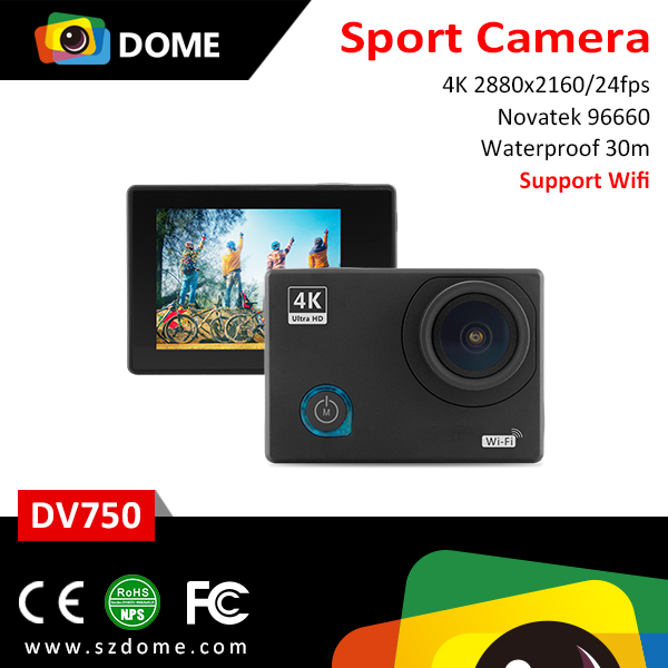 2016 mini wifi camera Novatek96660 34120 sensor 4k camera 170 degree wide angle 2.0 inch 64GB action cam