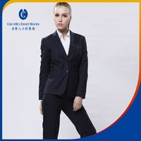 Striated Black Office Ladies Working Blazer