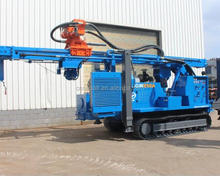HJGW850A Crawler type 400-500-600m water well drilling rig driven by Portable screw air compressor 30- 35bar fast drilling speed