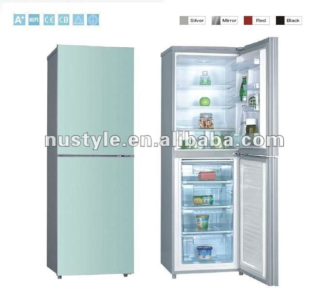 10 cu. ft Double door refrigerator, glass door, multi colors