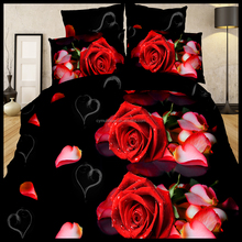 100% polyester King size super soft printed 3D designs bed sheet set