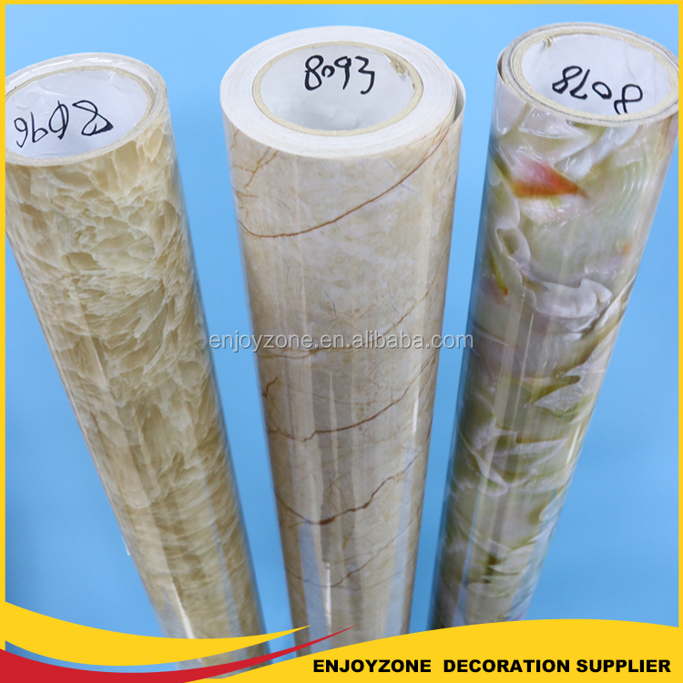 Marble Effect Self Adhesive Metallic PET Glass Window Film