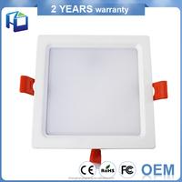 Modern Bathroom Aluminium Body Recessed Round Square Ceiling Lamp Fixtures Led Light Panel
