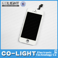 high quality mobile phone accessory for iphone 5s lcd, for iphone 5s display with digitizer touch screen