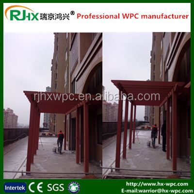 balcony flooring material for wood plastic composite deck with good price wood plastic composite decks