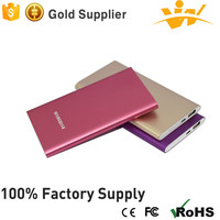 Customized factory supply 3.7V-5V/1A 5000 mah slim power bank