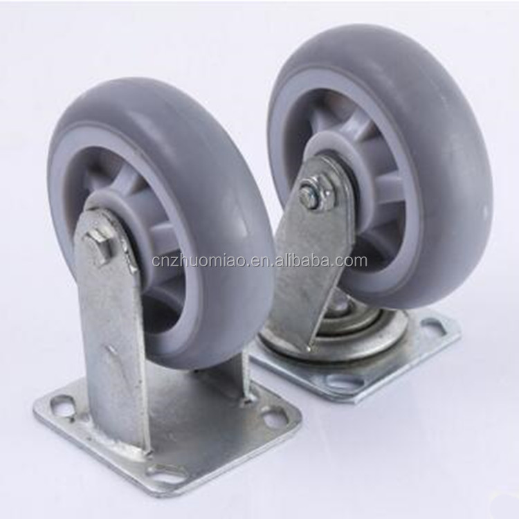 High quality light duty rubber caster wheels heavy duty caster fixed RUBBER caster wheel