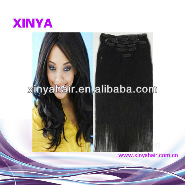 Best selling beautiful and charming Vigirn Brazilian extension clip hiar