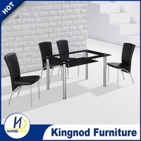 Modern glass dining sets Kitchen glass table and chairs