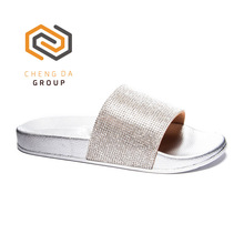 Latest brand women slippers and beautiful shiny glitter soft sole sandals