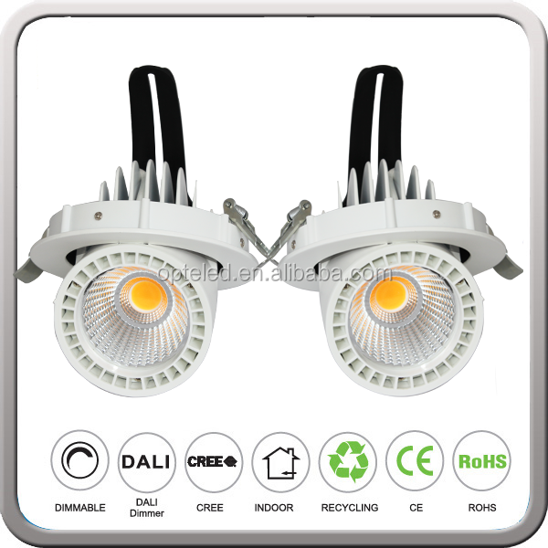rotation led downlight 9w cutout 80mm available high quality 6w to 50w led gimbal light