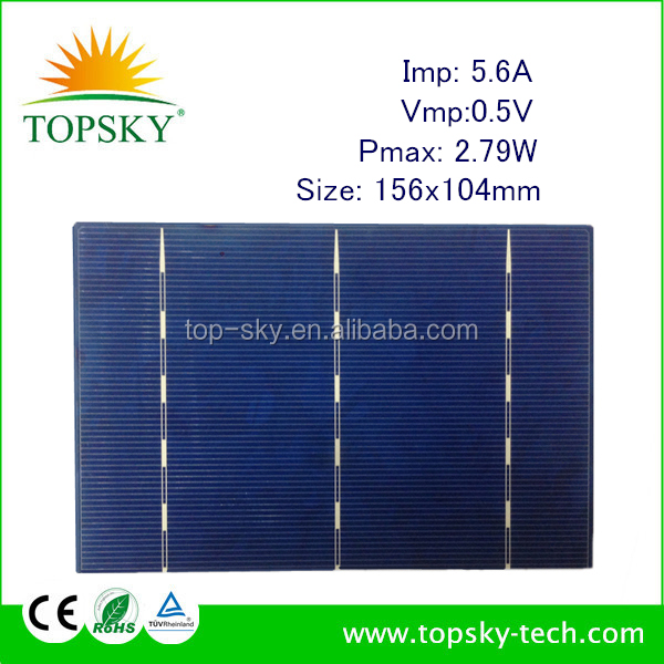 3X6 poly solar cell,156x104MM 0.5V 2.79W/ PV broken solar cell