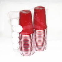 Free Of Shipping Hot Sale Popular Beer Pong Balls Part Pack /Beer Ping Pong With Cup /Party Cup