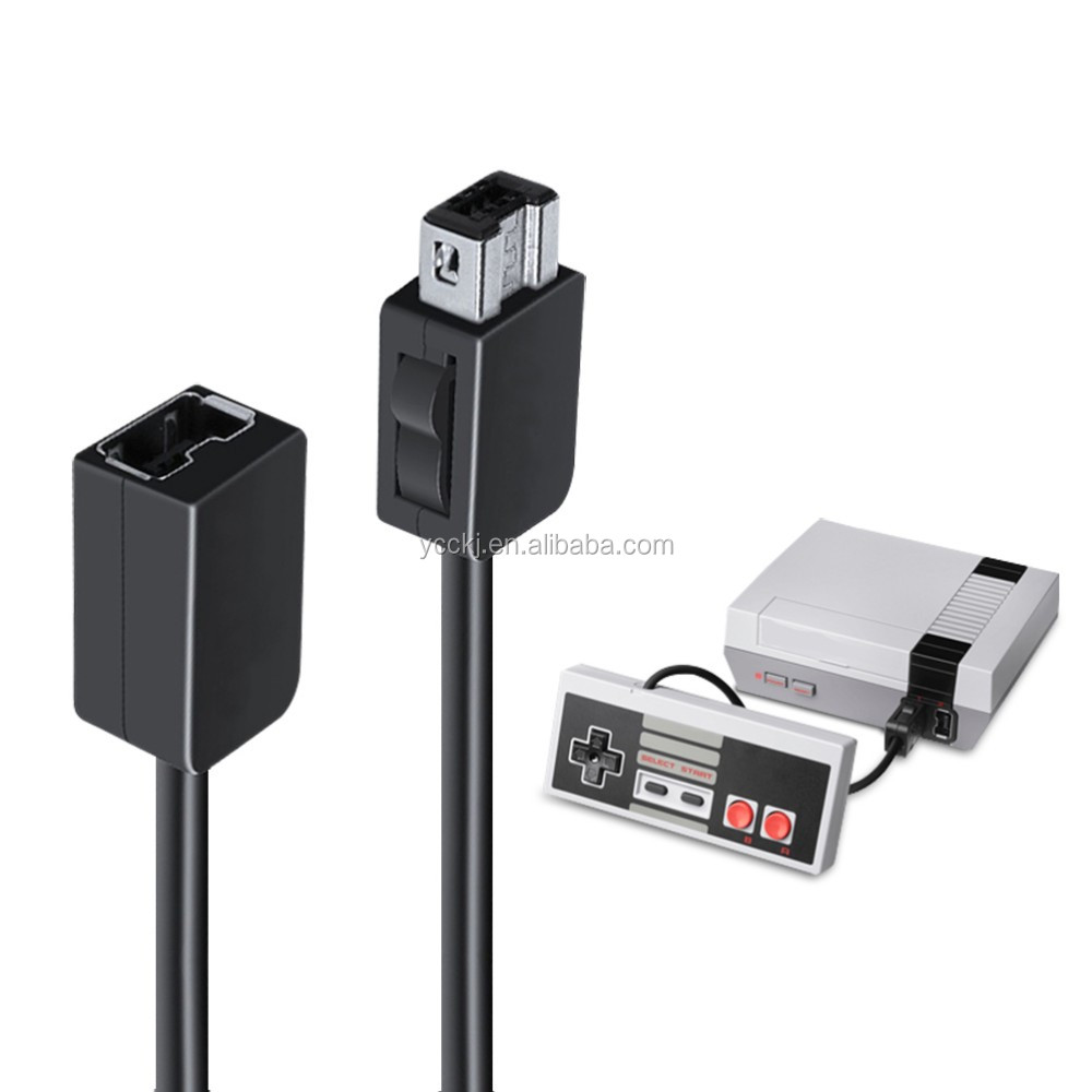 Game Controller extension Cable Cord For Nintendo NES Mini Classic controller length 1.8M and 3M optional