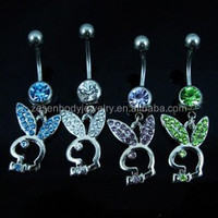 Fashion Charm Rabbit Dangle Accessories Belly Button Navel Rings Body Piercing Jewelry