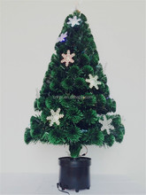2ft Color Changing Snowflake LED Lights Fiber Optic Christmas Tree Topper