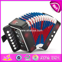 Hot sale and high quality toy accordion, new and popular children wooden accordion, musical instrument accordion W07K006