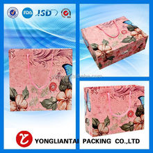 2015 Beautiful color printing manual decorative handmade paper gift bags of China