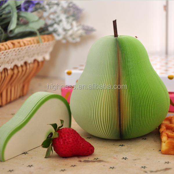 manufacture 3D fruit shape sticky note pad