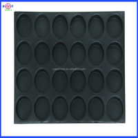 round customized FDA,LFGB,SGS Certification non-stick teflon coating aluminum flat baking muffin pan