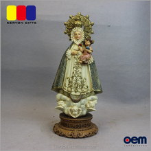 Luxury Religious Life Size Virgin Mary Statue Hold Baby