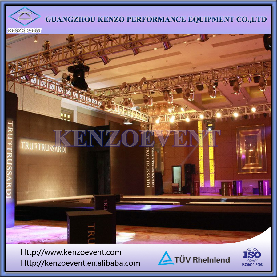 Fashion Show Stage Equipment Runway Truss, Aluminum Stage Truss