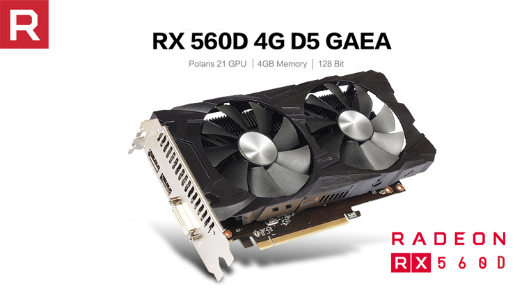 Gddr5 4Gb 128 Bit Graphics Card Amd Rx 560