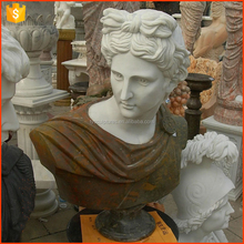 Western famous decorative stone roman antique artistic Phoebus Apollo marble bust