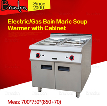 Electric/gas bain marie soup warmer with cabin / 6 warmers bain marie for sale / commercial bain marie for food warm