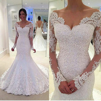 New Arrival White Sheath Mermaid Vestidos De Novia Capped Floor Length Beaded Wedding Dresses