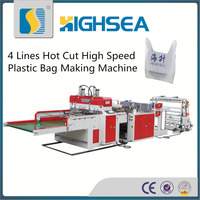 HS CE manufacturer automatic poly t-shirt bag making machine
