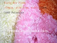 Curly Boa fur fabric