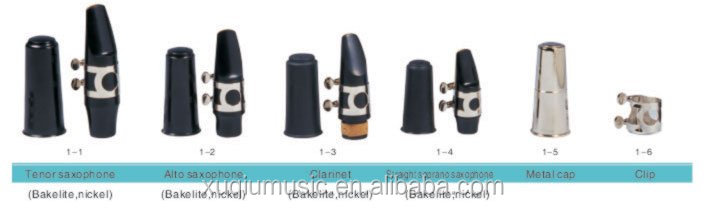 Wholesale China Cheap Musical Instruments Eb alto/tenor/sprano saxophone mouthpiece Set