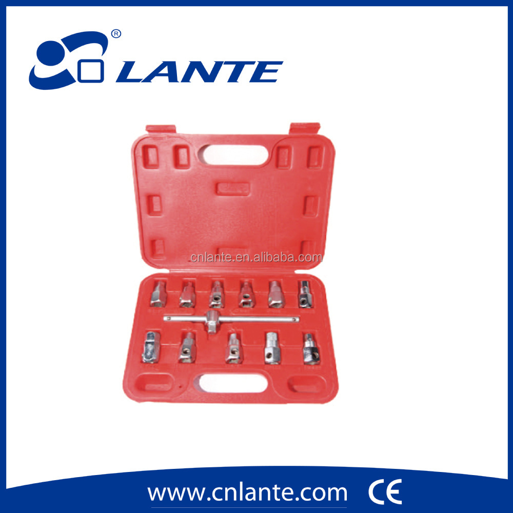Auto Tools 12PC Oil Drain Sump Plug Key Socket Set Gearbox Removal Wrench