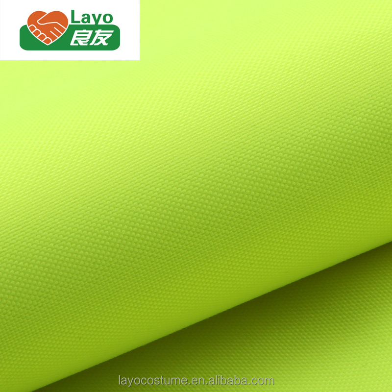 Wholesale Oxford 100% Poly DTY Oxford Hi-Vis Yellow 102T With Breathable Milky Coating For Garments