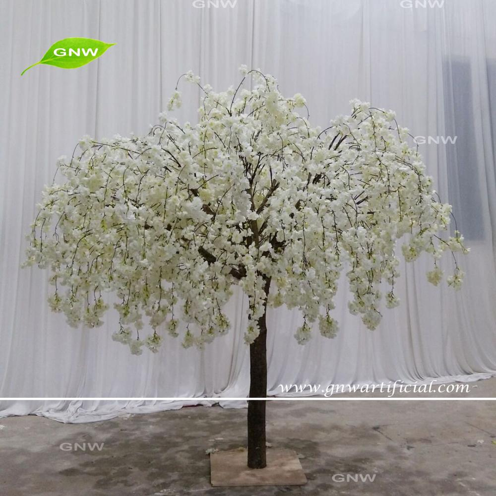 GNW BLS1707016 Artificial Wedding Warm White cherry blossom Trees Home Decoration Pieces for table Centerpieces