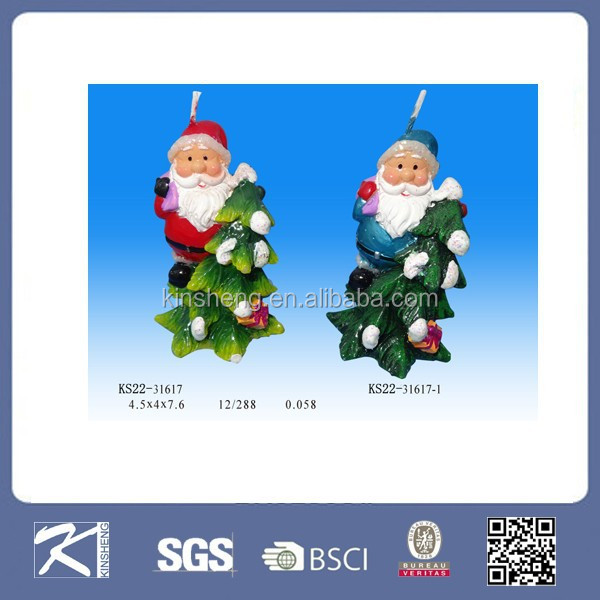 china supplier unique santa claus shaped christmas decorative candle gift for christmas holiday