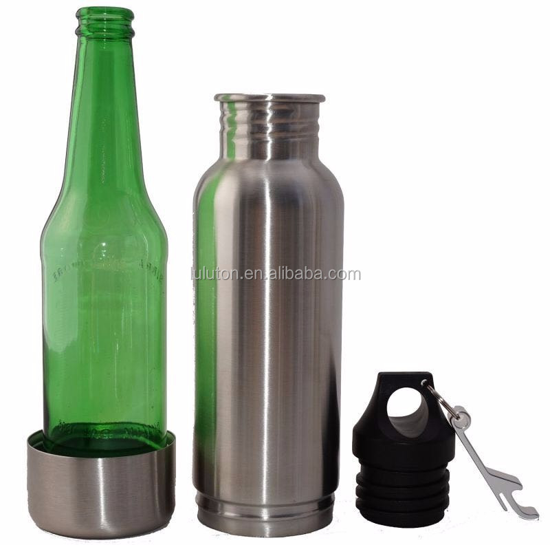 fashion design wide mouth 20oz stainless steel beer bottle