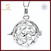 CYLZ0104 925 sterling silver cat paws harmony ball angel caller necklace 18mm