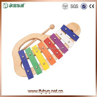 orff musical instrument wood toy hand hold xylophone