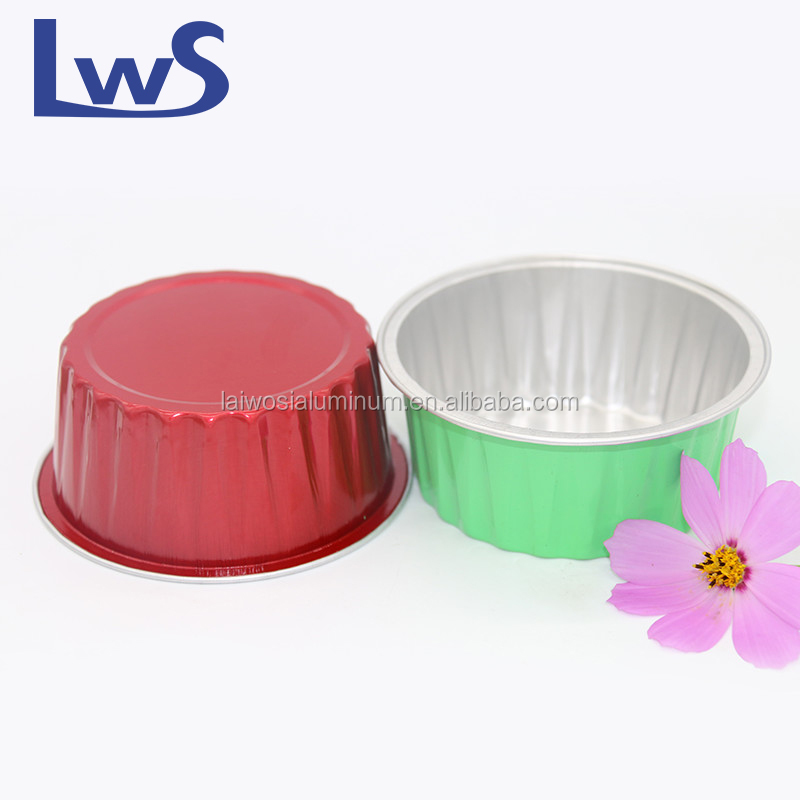 Aluminum foil Disposable yogurt/ice cream container with plastic dome lid