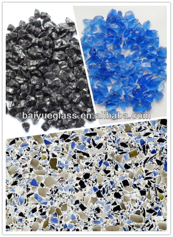 colorful COUNTERTOPS glass chips