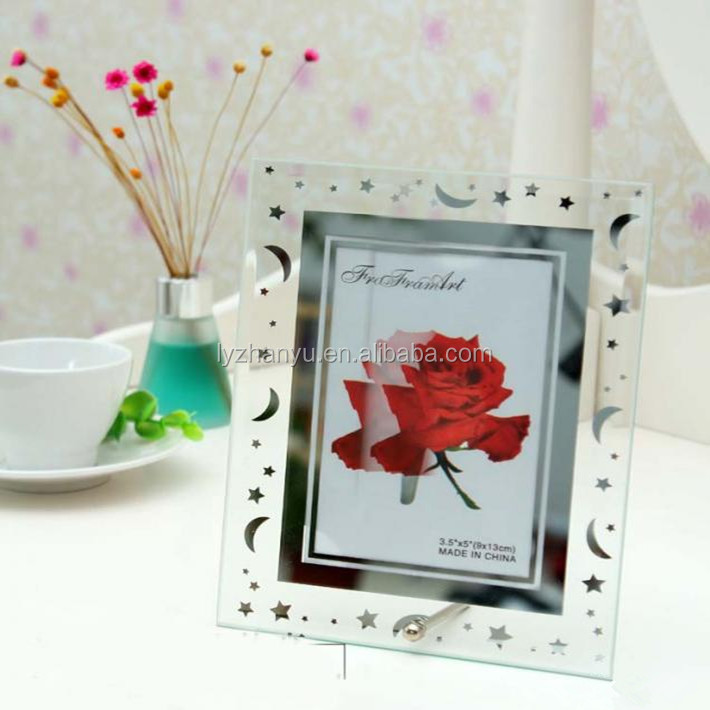 2015 New Design Beautiful Romantic Fashion photo frame acrylic with Magnet