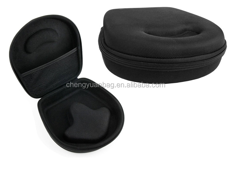Hard Shell EVA Headphone Case with Internal Netted Accessories Pocket