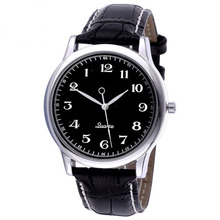 New Backwards Unusual Time Charm Watch for Men Watch Strap Leather