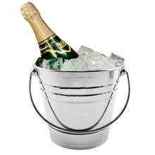 Bucket&Cooler&Holder Type Stainless Steel Mini Ice Bucket Small Metal Ice Bucket For Wine, Beer, Champagne
