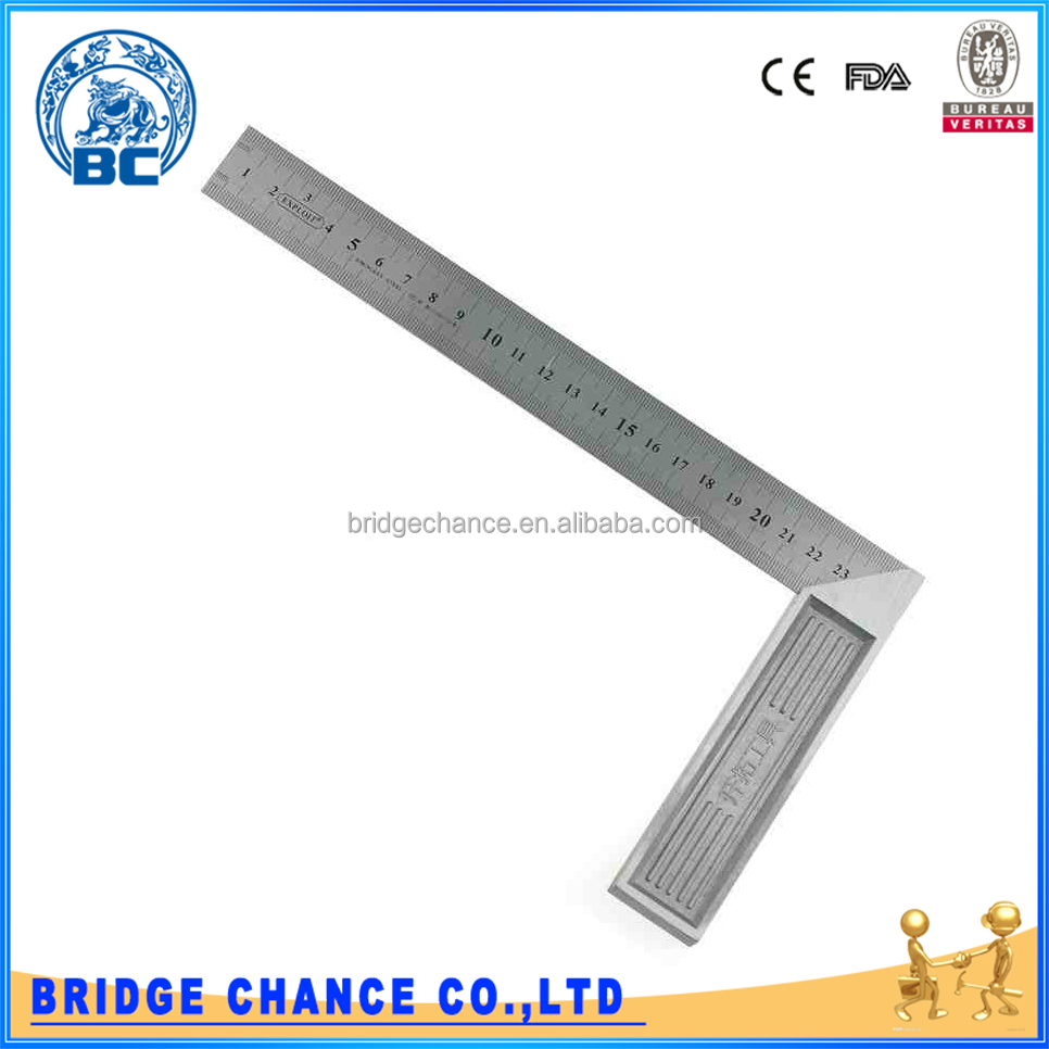 200 *135mm Measuring Angle Tool Stainless Steel And Aluminum Metric 90 Degree Angle Tri Square Ruler