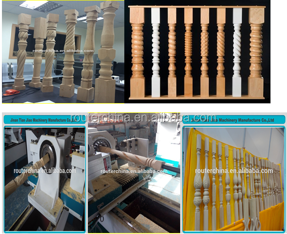 automatic cnc wood turning copy lathe machine for sale